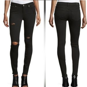Paige Black Verdugo Ultra Skinny Distressed Jeans